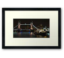 Tower Bridge London HDR Framed Print