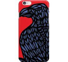 Lotts Eagle Hawk Red Blue iPhone Case/Skin