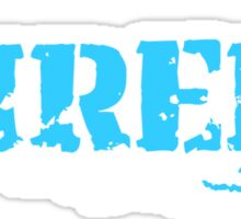 snowboard : shred Sticker