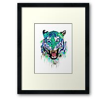 Tiger Force Teeth Face Framed Print
