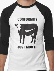 Conformity - Just Moo it Men's Baseball ¾ T-Shirt