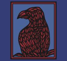 Niverson Eagle Hawk Red Blue T-Shirt