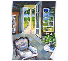 White Chair Nantucket Poster