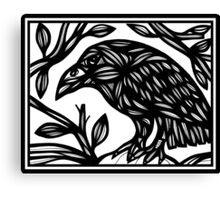 Tumminia Magpie Black and White Canvas Print