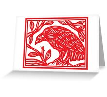 Seufer Magpie Red White Greeting Card