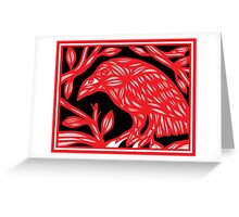 Tollefson Magpie Red White Black Greeting Card