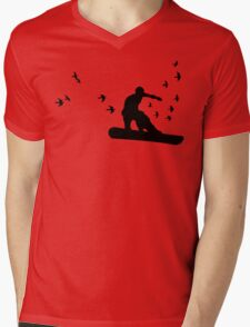 board with birds Mens V-Neck T-Shirt