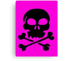 SKULL AND CROSSBONES by Zombie Ghetto Canvas Print