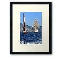 Tall ships 2 Framed Print
