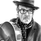 Elvis Costello by Simon Aberle