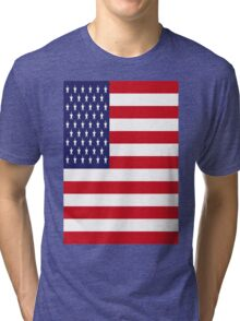 USA Flag, American Style, Stars And Stripes, Super Resolution Tri-blend T-Shirt