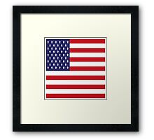 USA Flag, American Style, Stars And Stripes, Super Resolution Framed Print