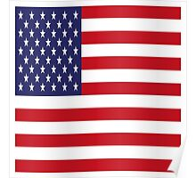 USA Flag, American Style, Stars And Stripes, Super Resolution Poster