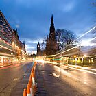 Edinburgh Light-Trails & Walter Scott Monument by DonDavisUK