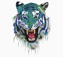 Tiger Force Teeth Face by Trav Nash