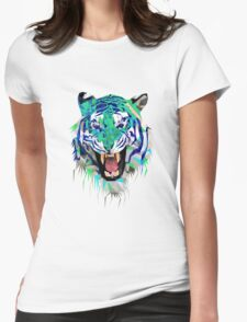 Tiger Force Teeth Face Womens Fitted T-Shirt