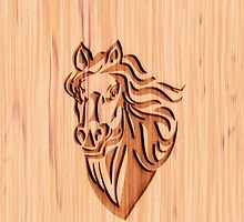Horse - Wood Carved by vikaze