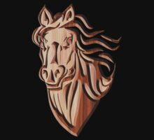 Horse - Wood Carved Kids Clothes