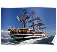 Tall ships 7 Amerigo Vespucci Poster