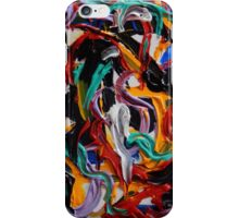 Abstract Colorful Looping Design, Contemporary Art, Textured Acrylic Pianting iPhone Case/Skin