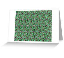 Pattern Flower [Green] Greeting Card