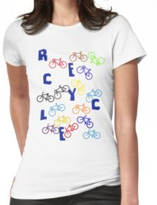 Recycle! Womens Fitted T-Shirt