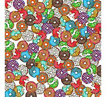 Colourful & Delicious Iced Donuts Photographic Print