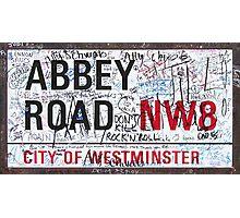 Abbey Road Graffiti Photographic Print