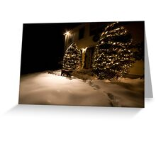 A Chocolate and White Christmas Greeting Card