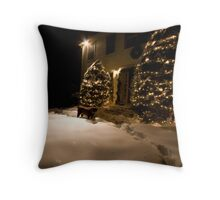 A Chocolate and White Christmas Throw Pillow