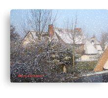 Snowing Metal Print