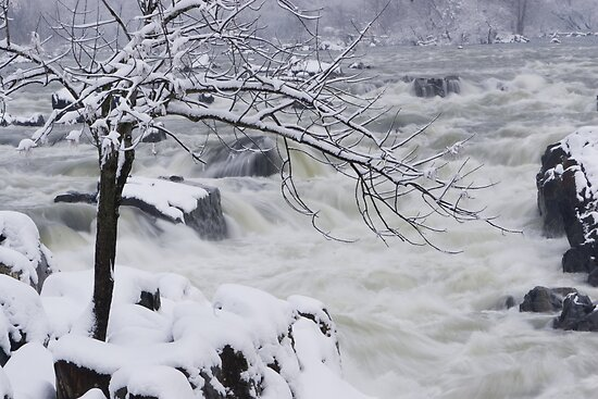 Snowstorm at Great Falls by John Wright