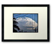 Storm Rolloing In Framed Print