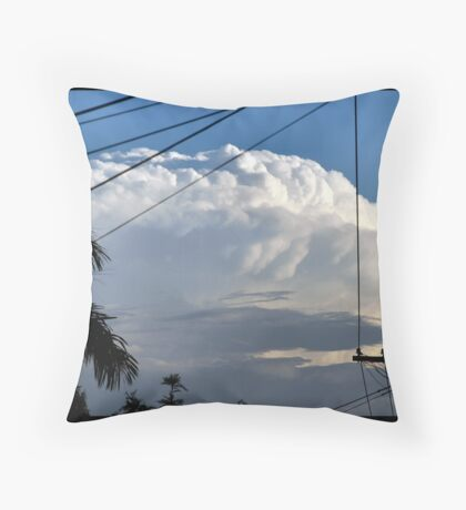 Storm Rolloing In Throw Pillow