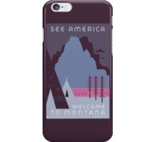 Travel Poster: Montana Night iPhone Case/Skin