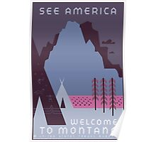 Travel Poster: Montana Night Poster