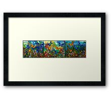 Butterfly - Triptych Framed Print