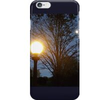 Two Balls of Light At Night iPhone Case/Skin