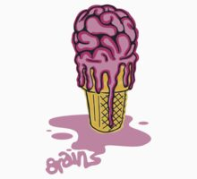 Zombie Brain Freeze Cone - Strawberry Ripple Kids Clothes