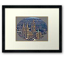 Where I Live The City of Truro. Framed Print