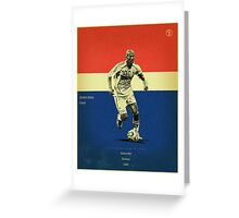 Zidane Greeting Card