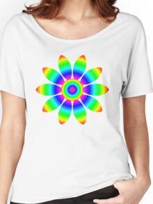 Rainbow Flower Design Women's Relaxed Fit T-Shirt