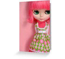 Fluor Pink Blythe Greeting Card