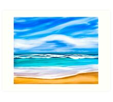 Dreams Of A Tropical Beach On The Caribbean Sea Art Print