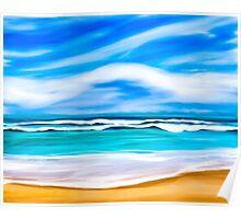 Dreams Of A Tropical Beach On The Caribbean Sea Poster
