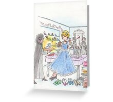 Cinderella and shoes Greeting Card