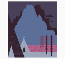 Travel Poster: Montana Night (Close-up) One Piece - Long Sleeve