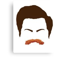 Ron Swanson Bacon Mustache  Canvas Print