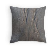 trees in the sand Throw Pillow