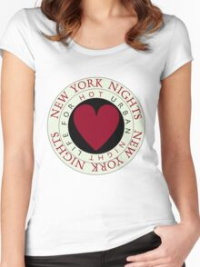 New York Nights Women's Fitted Scoop T-Shirt